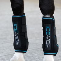 Horseware Ice-Vibe Boot LED - Black Aqua , Größe:Warmblut (L)