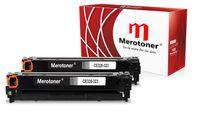 Merotoner® 2x Toner (2x Schwarz/Black) Kompatibel zu HP Color LaserJet (CE320A , CE 320A , 128A 128 A) HP CLJ CP1525, CP-1525N/NW , CM1415, CM-1415FN/FNW , CM1415, CM-1415MFP