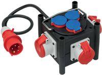 Brennenstuhl Kompakter Stromverteiler TPE-Gehäuse 1m Kabel H07RN-F5G1.5 (3xCEE 400V 16A, 3x 230V 16A)
