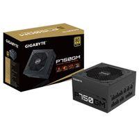 Gigabyte P750GM - 750 W - 100 - 240 V - 50/60 Hz - 12-6 A - Aktiv - 16 ms