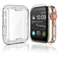 Apple Watch Silikon Schutzhülle Case 360° Full Cover Transparent Serie 1 2 3 4 5, Gehäusegrösse:38mm