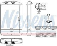 NISSENS Wärmetauscher Innenraumheizung für NISSAN NV400 Kasten