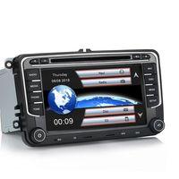 7 Zoll Wince Autoradio 2DIN für Golf 5 6 Passat Touran Tiguan Skoda Seat Navi GPS DAB+ DVD USB Lenkradsteuer