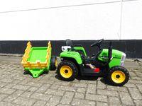 Kinder Elektroauto Traktor Kinderauto Trecker Kinderfahrzeug Elektro 2x25 W Grün