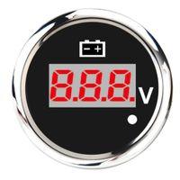 Digital LED Voltmeter Anzeige 52mm Zusatzinstrument Zusatzanzeige Instrument Spannung Universal