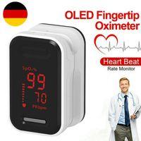 Oxymeter Pulsmessgerät Finger Puls Fingerspitze Sauerstoff Blut Sofortablesung Weiß YL64