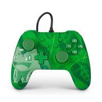 PowerA Bulbasaur Overgrow, Gamepad, Nintendo Switch, Analog / Digital, D-pad,Home button, Verkabelt, USB