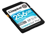 Kingston 256 GB SDXC Canvas Go Plus 170R C10 UHS-I U3 V30