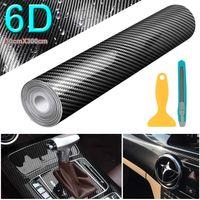 300x30cm 6D Carbon Folie selbstklebend Car Wrapping Folie Autosticker Schwarz