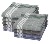 Betz 10er Pack Arabias Herren Stoff Taschentücher, 100% Baumwolle, 40x40cm, Farbe grün, blau, braun kariert