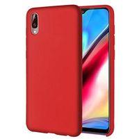 PEDEA Liquid Silicone Case SoftCover für Samsung Galaxy A50   rot