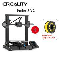 Creality 3D-Drucker Ender 3 v2 - 220 * 220 * 250 mm + 1KG Gelb PLA-Filament
