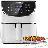 Cosori Premium 5,5-Liter Heißluftfritteuse mit Spießregalsatz Weiß