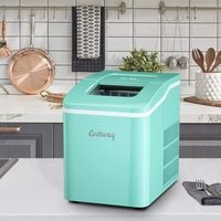 COSTWAY Eiswürfelmaschine Ice Maker, Eismaschine, Eiswürfelbereiter inkl. Eiswürfelschaufel / 9 Eiswürfel in 8 min / 12kg in 24 Std. / 1,6L Wassertank / 31x22x30 cm Grün
