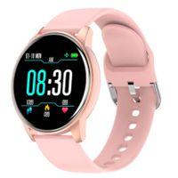 Bluetooth Smartwatch Fitness Tracker Uhr (Pink), mit Pulsuhr Wasserdicht IP68 Schwimmen Blutdruckmessung Schlafmonitor Armband für Android iOS