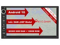 "M.I.C. AU7 Android 10 Autoradio mit navi Qualcomm Snapdragon 665 6G+128G: DSP DAB+ BT 5.0 WLAN 7"" Bildschirm USB sd GPS doppel 2 DIN OBD universal Gerät Ersatz für VW Toyota KIA Nissan Hyundai FIAT"