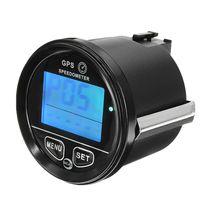 Motorrad Digital GPS Tachometer Geschwindigkeitsmesser Kilometerzähler 12V / 24V Blau