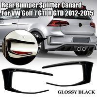 Für VW Golf 7 GTI R GTD 12-15 Hinten Stoßstange Splitter Spoiler Canard Schwarz