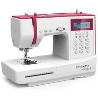 Bernette Nähmaschine Sew&Go 8 / 197 Stich- und Nähprogramme (Nutzstiche, Elastikstiche) mit zubehören / professionelle Nähen / Ideal für quilten und patchwork, Automatik, mit LCD Display - Swiss Design