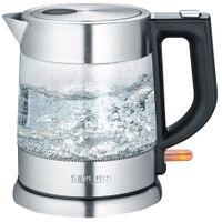 SEVERIN Glas-Wasserkocher WK 3468 1,0 Liter ca. 2200 W Edelstahl / schwarz