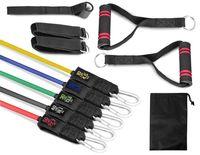 Hop-Sport Fitness Tube Set  Gymnastikbänder Trainingsbänder Widerstandsbänder Expander HS-R050RT