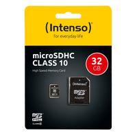 Intenso 32 GB microSDHC Karte Class 10 inkl. SD-Adapter