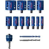 Bosch Lochsägensatz Tough Material 20/22/25/32/35/40/44/51/60/68/76 mm Schnitttiefe 60 mm