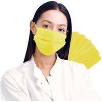 10 x Mund-Nasen Maske 3-lagig - Farbwahl - Mundschutz Einwegmaske gelb