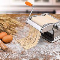 Pastamaschine Nudelmaschine Manuell Pasta Walze Maschine Cutter mit zwei Walzen für Zuhause, Küchenmaschine -Einstellbarer Gang Pastamaschine