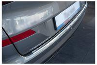 Ladekantenschutz mit Abkantung für Hyundai Tucson 2 Facelift Edelstahl 08/2018-2020, Farbe:Silber