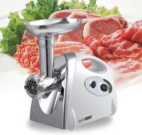 2800W Elektrisch Fleischwolf Gemüsemühle Wurstmaschine Edelstahl mit 3 Klingen