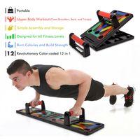 Push Up Board System,12-in-1-Bodybuilding-Übungswerkzeuge Workout-Liegestütz, Push-up-Rack-Board