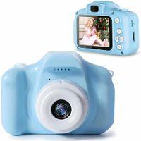 Kinder Kamera, Kinderkamera Digital Fotokamera Selfie, 2.6Zoll Digitalkamera 2000W Pixel, vorderes und hinteres Objektiv, mit Blitzlicht, Fun Junge Mädchen Kamera 8GB SD-Karte, Blau