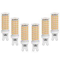 7W G9 GU9 Fassung LED Mais Leuchtmittel Birnen Lampen Dimmbar Warmweiß 3000K Maximal 650Lm Ersatz 60W Halogenlampe 0 100% Helligkeit Dimmbar AC220-240V 6er Pack von Enuotek