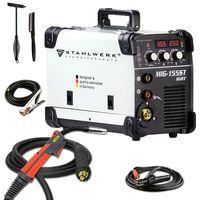 STAHLWERK MIG 155 ST IGBT - MIG MAG Schutzgas Schweißgerät mit 155 Ampere, FLUX Fülldraht geeignet