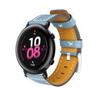20 mm Lederarmband Schnellwechsel-Ersatzarmband Smart Watch Band fuer Maenner Frauen Kompatibel mit HUAWEI WATCH GT 2 42 mm / HONOR MagicWatch 2 42 mm