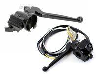 Set 1x Schaltereinheit Lenker links mit Kupplungshebel, 1x Bremsarmatur mit Bremshebel, Chokehebel, Einstellschraube für Simson S51 S53 S70 S83 SR50
