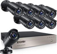 ZOSI 8CH 1080N HDMI DVR Recorder mit 8x Outdoor 2.0MP Video Überwachungskamera System ohne Festplatte