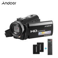 Andoer HDV-201LM 1080P FHD Digitalvideokamera Camcorder DV-Recorder 24MP 16X Digitalzoom 3,0 Zoll LCD-Bildschirm mit 2 Akkus