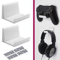 Controller Wandhalterung Kopfhörer Halter ohne Bohren für XBox PS3 PS4 Nintendo