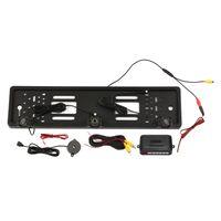 Europaeische Kfz-Kennzeichenrahmen-Rueckfahrkamera 8 LED-Rueckfahrkamera mit Umkehrradarsystem Einparkhilfe