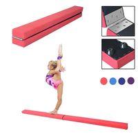 Dripex 210cm Schwebebalken Balance Beam Zusammenfaltbar Gymnastik Kinder Training Beam für Home Gym-Rosa