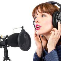 Professionelles Kondensatormikrofon mit 3,5-mm-Stecker und Ständer für Computertelefon PC-Mikrofonmikrofon für Live-Übertragung von Sing-Aufnahmen