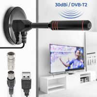 5m 30dbi DVB-T2 Full HD Antenne Leistungsstarke Stabantenne Verstärker Fernseher