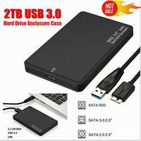 externe Festplatte Gehäuse Kasten tragbar SATA 2TB USB 3.0 External Hard Drivl ABS Ultra Slim