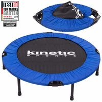 Fitness Trampolin Ø 91cm, TEST BILD TOP MARKE, Indoor Minitrampolin, Sprungtraining, Smart Jumping Workout, platzsparend faltbar, bis 100kg, KINETIC SPORTS