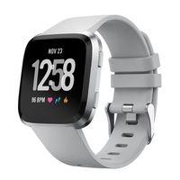 Fitbit Versa Armband Silikon Sportmodell grau (S)