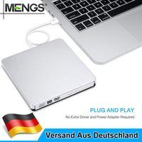 Externes DVD Laufwerk USB 2.0 Brenner Slim CD DVD-RW Brenner für PC Laptop Neu