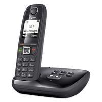 Gigaset AS405A Strahlungsarmes Schnurlostelefon mit Anrufbeantworter, Rufnummernanzeige, 18h Sprechzeit, 8 Tage Standby, Freisprechfunktion, DECT