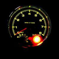"""Led eingebautet Auto 3.75\"""" Tachometer Meter Meter Universal Drehzahlmesser Zubehör"""